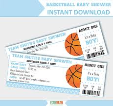 instant download baby shower invitations basketball baby shower invites blue baby shower invitation