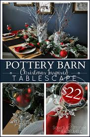 remodelaholic pottery barn holiday tablescape for dollar tree price