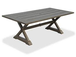 Rectangle Patio Table La Jolla 84 X 42 Rectangular Aluminum Slat Top Pedestal Table