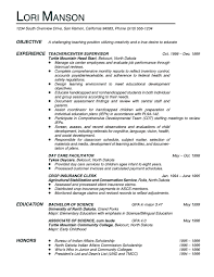 sample teacher resume sample elementary teacher career