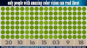 only people with amazing color vision can read all these numbers