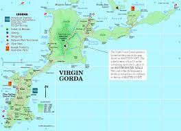 Map Of The Caribbean Sea by Villas On Virgin Gorda In The British Virgin Islands