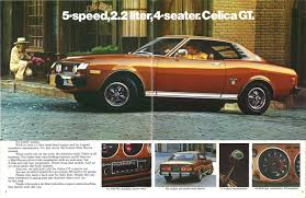 toyota japanese pony car toyota celica brochure wonderful toyota