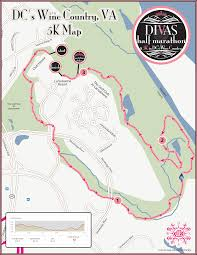 Virginia Area Code Map by Divas Half Marathon U0026 5k Dc U0027s Wine Country