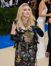 madonna poses in camouflage dress at the met gala 2017 just like