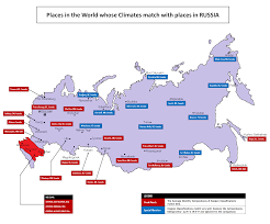 Map Of Canada Cities And Provinces by A Map Showing Where Canadian Cities Would Fit In Russia Climate
