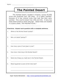 reading comprehension grade 4 worksheets worksheet fourth grade reading passages with comprehension