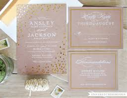 gold foil wedding invitations gold foil wedding invitation with matching reply and enclosure