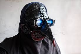 plague doctor mask halloween costume cosplay led steam punk