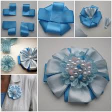 ribbon flowers how to diy easy satin ribbon flower brooch