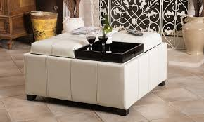12 off on storage ottoman with tray tops groupon goods
