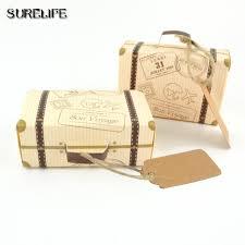 bonbonni re mariage 50 pcs mini valise kraft boîte de bonbons bonbonnière cadeau