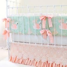 Elegant Crib Bedding Swan Baby Bedding For An Elegant Vintage Inspired Nursery
