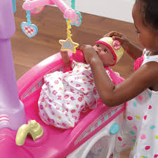 Baby Doll High Chair Set Love U0026 Care Deluxe Nursery Kids Pretend Play Step2