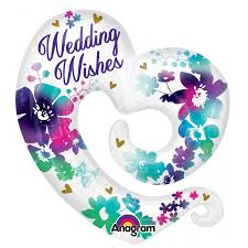 wedding wishes online shape watercolor wedding wishes balloons online