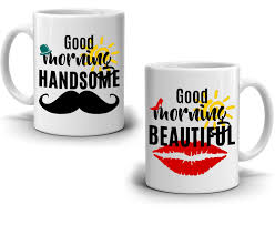 romantic gifts for couples mug good morning handsome and