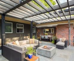 contemporary patio with trellis by design platform zillow digs