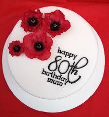 80th birthday cake plates sweets photos blog