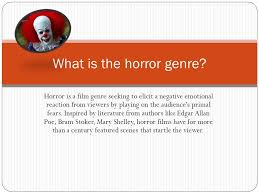 Seeking Genre Horror Is A Genre Seeking To Elicit A Negative Emotional