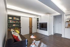 36 sqm micro apartment interior with space saving furniture idea