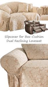 slipcover for recliner sofa reclining sofa slipcover suede taupe adapted for dual recliner