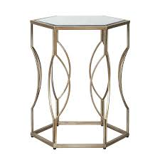 silver side table uk side table silver side tables hexagonal bedside or table mirrored