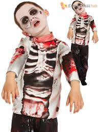 Zombie Boy Halloween Costume Boys Zombie Costume Kids Halloween Fancy Dress Party