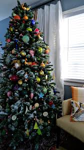 snow flocked christmas tree christmas lights decoration