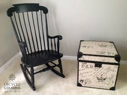 Black Rocking Chair Nursery Cool Black Indoor Outdoor Rocking Chair Upcycle Cousins