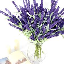 lavender bouquet 12 heads artificial lavender silk flower bouquet wedding home