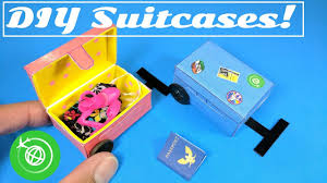 diy doll luggage suitcases u0026 passport doll crafts youtube
