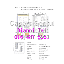 Powder Room Layouts The Capers Sentul Floor Plan Kuala Lumpur City Centre Properties