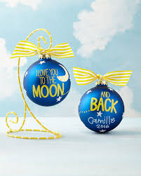 coton colors you to the moon and back ornament
