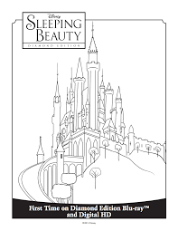 princess aurora u0027s castle coloring sheet sleeping beauty diamond