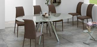 dining room modern plain white oval pedestal dining table with