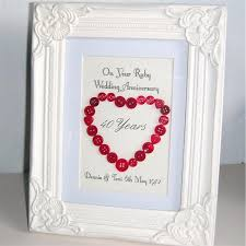 40th wedding anniversary gift best 25 ruby wedding anniversary gifts ideas on ruby