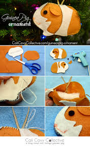 guinea pig diy felt ornament tutorial lovely felt crafts