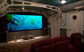 interior amazing home theater decoration ideas with nice leather