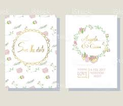 Gold Invitation Card Light Pink Blue Gold Invitation Card With Bicycle Bouquet Stock