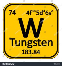 Periodic Table Tungsten Periodic Table Element Tungsten Icon On Stock Vector 503336179