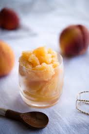 recipe bellini sorbet the hungry australian