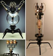 steampunk lamps by buchwald strawdogs