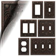 Wall Switch Plate Cover Filigree Aged Bronze Outlet Toggle Decora