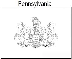 geography blog pennsylvania flag coloring page