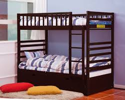Espresso Twin Trundle Bed Amazon Com Merax Bunk Bed Twin Over Twin With Trundle Bed And End