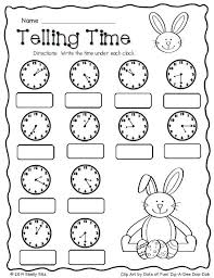 second grade time worksheets easter math telling time free second grade math 2 md 7 tell