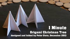 1 minute origami christmas tree youtube