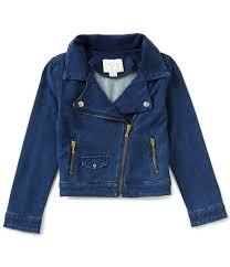 hooded motorcycle jacket girls u0027 coats jackets u0026 vests dillards