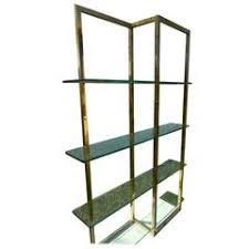 burl wood étagère shelving unit lighted bookcase manner of milo