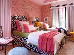 likable teen girls bedroom decoration ideas with zebra print bed